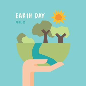 Free Stock Photo of Earth Day Illustration