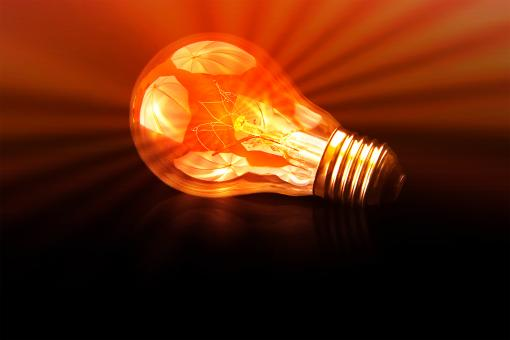 Free Stock Photo of The Brightest - A Bright Light Bulb