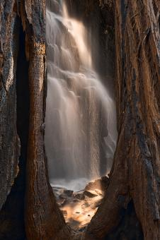 Free Stock Photo of Sequoia Sunbeam Falls