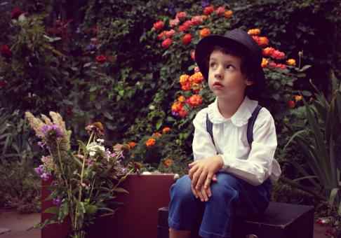 Free Stock Photo of Boy in the Garden