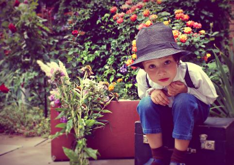 Free Stock Photo of Curious Boy in Garden