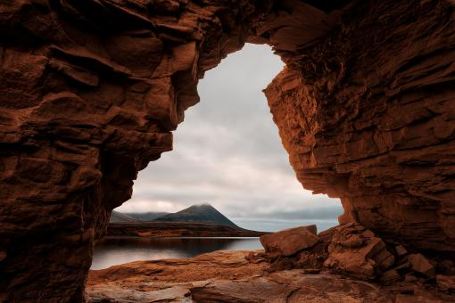 Free Stock Photo of Snaefellsnes Arch Cave