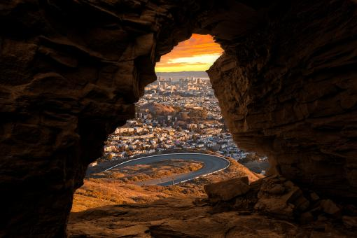 Free Stock Photo of San Francisco Sandstone Sunrise