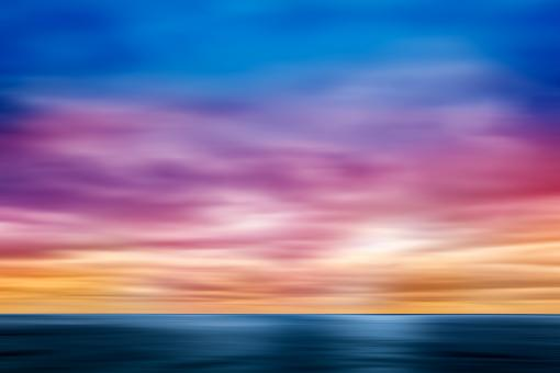 Free Stock Photo of Rainbow Sky Blur