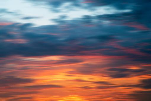 Free Stock Photo of Vibrant Sunset Blur