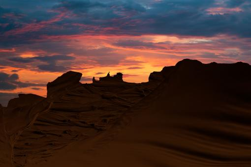 Free Stock Photo of Quicksand Mountain Sunset