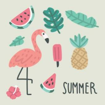 Free Stock Photo of Summer Time Bold Vector Drawings