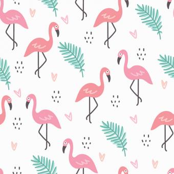 Free Stock Photo of Flamingo Vector Pattern