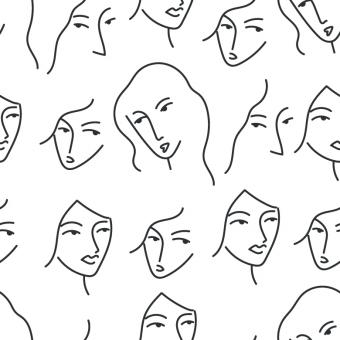 Free Stock Photo of Women Faces Pattern