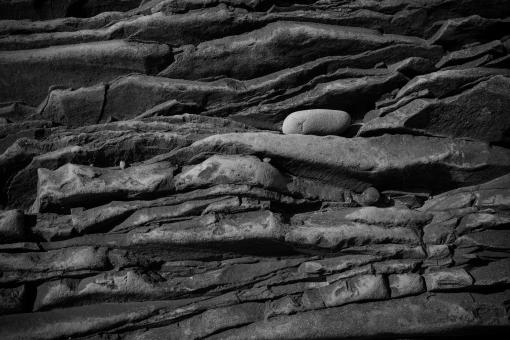 Free Stock Photo of Grayscale Rock Formation Texture