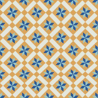 Free Stock Photo of Floral Portuguese Tile Pattern