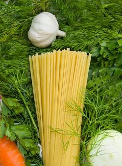 Free Stock Photo of Spaghetti Pasta and Garlic