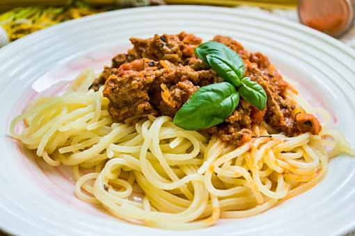 Free Stock Photo of Spaghetti and Meat