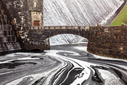Free Stock Photo of Claerwen Bridge Dam