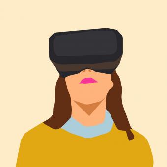 Free Stock Photo of Woman Using VR