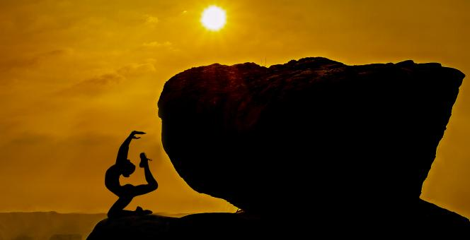 Free Stock Photo of Yoga Meditation Rock