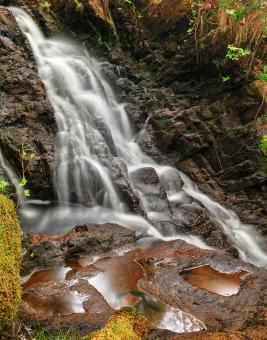 Free Stock Photo of Dolwyddelan Puddle Falls