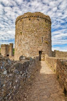 Free Stock Photo of Kidwelly Castle Tower Path
