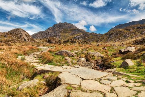 Free Stock Photo of Cwm Idwal Mountain Trail