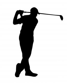 Free Stock Photo of Golf Player Silhouette