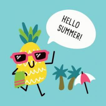 Free Stock Photo of Pineapple Saying Hello To Summer