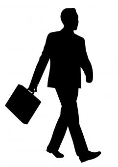Free Stock Photo of Silhouette of Businessman