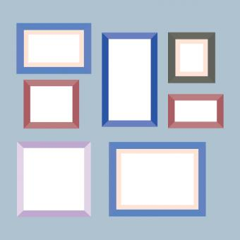 Free Stock Photo of Colorful Vector Frames