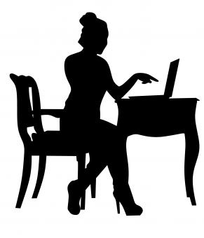 Free Stock Photo of Silhouette of a Businesswoman