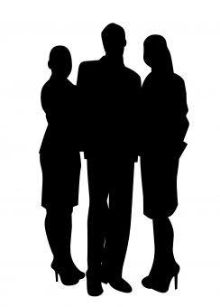 Free Stock Photo of Silhouette of Business People