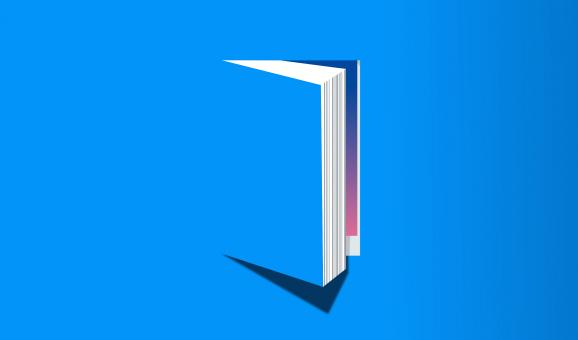 Free Stock Photo of Open Book - Knowledge and Reading Concept - Blue Version