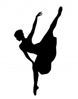 Free Stock Photo of Ballet Dancer Silhouette