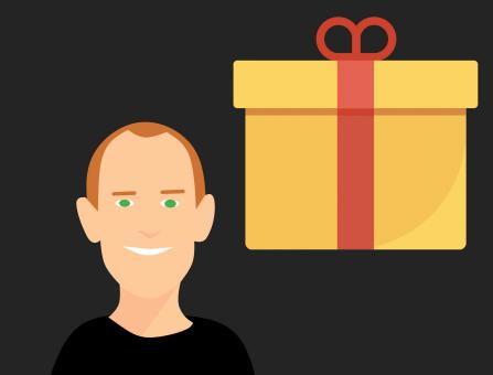 Free Stock Photo of Gift Box and Male Portrait