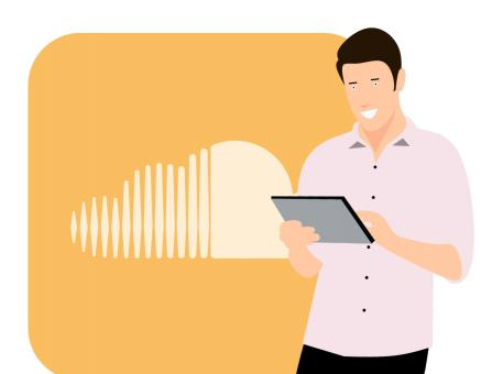 Free Stock Photo of SoundCloud Illustration
