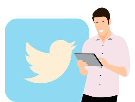 Free Stock Photo of Twitter Illustration
