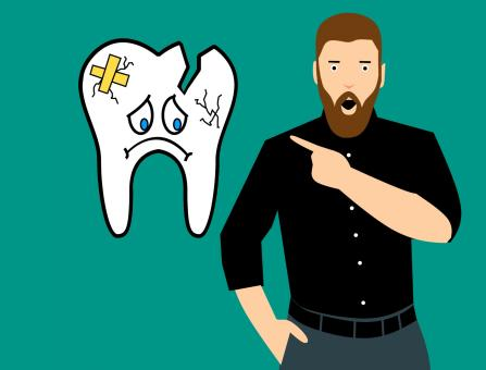 Free Stock Photo of Broken Tooth Illustration