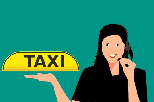 Free Stock Photo of Taxi Call Service Illustration