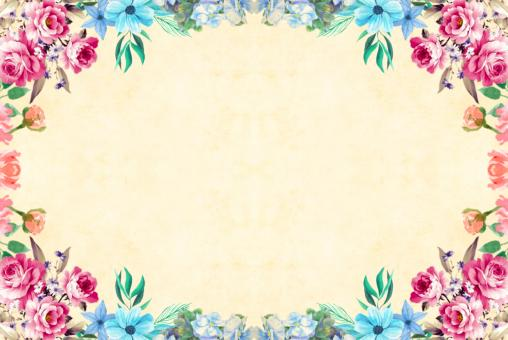 Free Stock Photo of Floral Frame Background