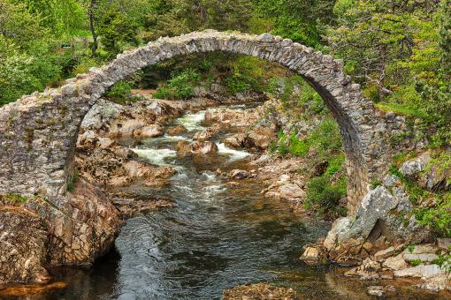 Free Stock Photo of Old Scottish Packhorse Bridge