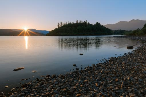 Free Stock Photo of Derwent Water Sunset