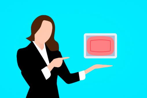 Free Stock Photo of Woman Illustration Pointing to a Soap