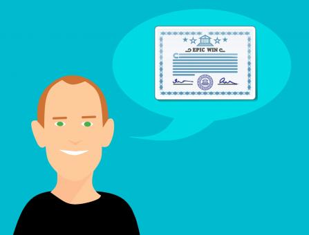 Free Stock Photo of Certification Illustration