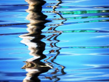 Free Stock Photo of Vivid blue abstract water reflection background