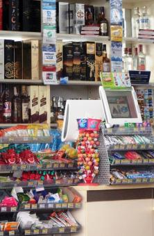 Free Stock Photo of Modern convenience store products like alcohol and candy