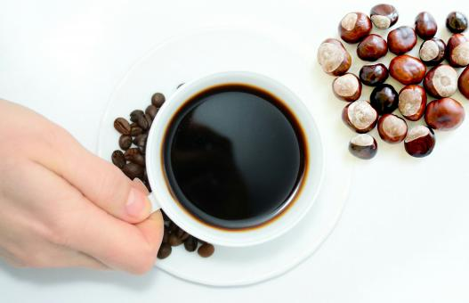 Free Stock Photo of Chestnuts and Coffee