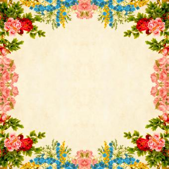 Free Stock Photo of Floral Border on Vintage Background