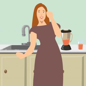 Free Stock Photo of House Wife Illustration