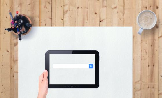 Free Stock Photo of Search Engine on iPad
