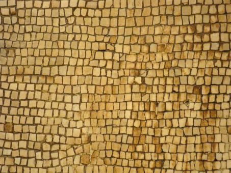 Free Stock Photo of Ancient Gold Stone Mosaic Background