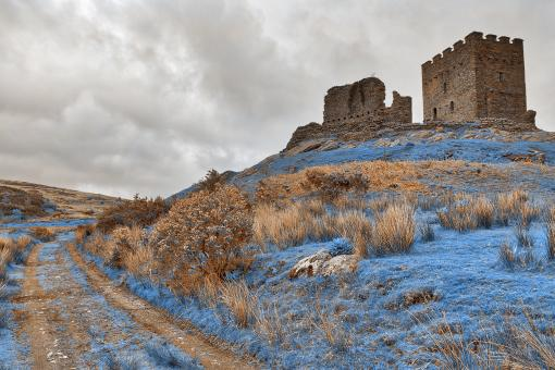 Free Stock Photo of Nuclear Winter Castle - Dolwyddelan