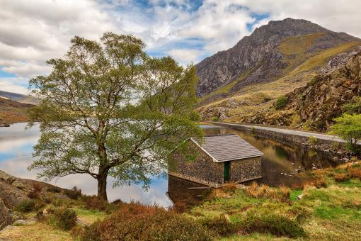 Free Stock Photo of Ogwen Lake House